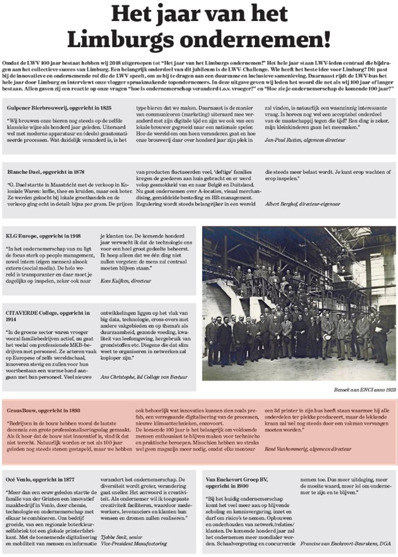 LWV 100 jaar Limburgs Ondernemen