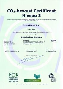 Certificaat CO2-bewust niveau 3 geldig tm 2021 JPEG